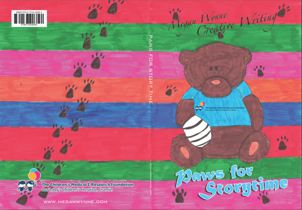 Cover of Paws for Story Time - Creative Writing Book in aid of Childrens Hospital Crumlin