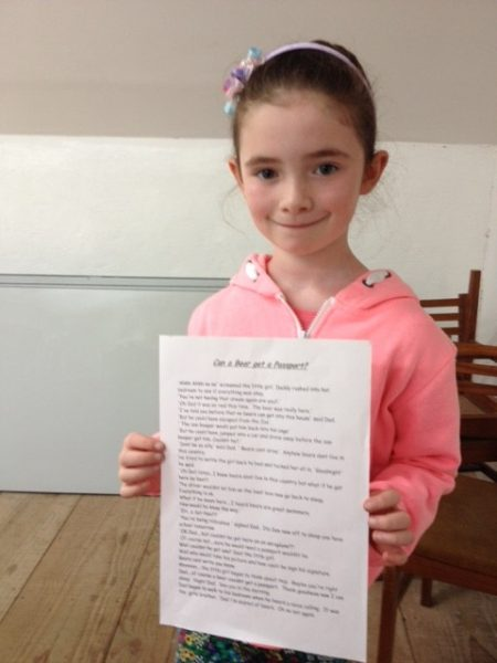 Sadhbh Cushen with her winning story in Listowel Writers' Week Literary Competiion for Youth