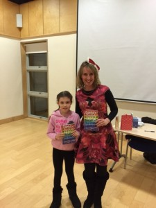 Megan Wynne with Grace Lenny ,Listowel Literary Competition for under twelves winner.